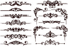Vector ornaments frames, corners, borders Royalty Free Stock Photos