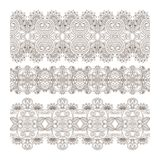 Vector ornaments. Vector set of borders, decorative elements for design, print, embroidery Royalty Free Stock Images
