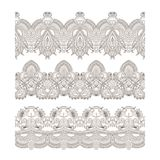 Vector ornaments. Vector set of borders, decorative elements for design, print, embroidery Royalty Free Stock Photo