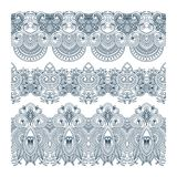 Vector ornaments. Vector set of borders, decorative elements for design, print, embroidery Royalty Free Stock Photography