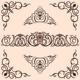 Vector Ornaments. Set of  ornaments and corners elements Royalty Free Stock Images