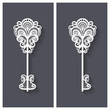 Vector Ornate Antique Key Royalty Free Stock Photos