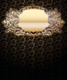 Vector Ornate Background With  Gold Medallion Stock Images