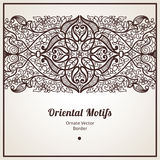 Vector ornate border in Eastern style. Royalty Free Stock Photo