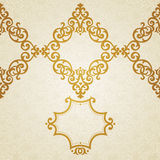Vector ornate border in Victorian style. Stock Images