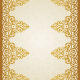 Vector ornate border in Victorian style. Stock Image