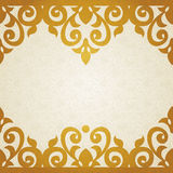 Vector ornate border in Victorian style. Royalty Free Stock Photo
