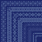 Vector ornate borders with outside corners in Eastern style Royalty Free Stock Image