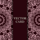 Vector ornate decor with place for text. Card for you in retro s Stock Photo