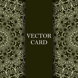 Vector ornate decor with place for text. Card for you in retro s Royalty Free Stock Image