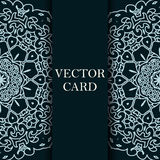 Vector ornate decor with place for text. Card for you in retro s Royalty Free Stock Photography