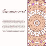 Vector ornate decor with place for text. Card for you in retro s Stock Image