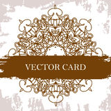 Vector ornate decor with place for text. Card for you in retro s Royalty Free Stock Images