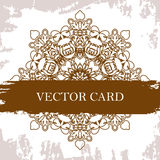 Vector ornate decor with place for text. Card for you in retro s Stock Photography
