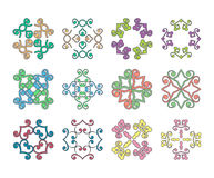 Vector ornate design element set Royalty Free Stock Photography