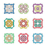 Vector ornate design elements set Stock Photography