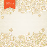 Vector ornate floral pattern in Victorian style. Royalty Free Stock Photo