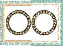 Vector ornate frame. Easy to edit Royalty Free Stock Images