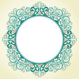 Vector ornate frame in Victorian style. Royalty Free Stock Photography