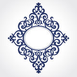 Vector ornate frame in Victorian style. Stock Photo