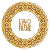 Vector ornate frame in Victorian style. Decorative element for design and place for text. Royalty Free Stock Photo