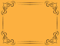 Vector ornate frame on a yellow background Stock Images