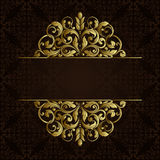 Vector ornate gold border. Royalty Free Stock Images