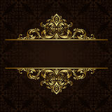 Vector ornate gold border. Royalty Free Stock Photo
