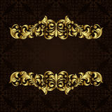 Vector ornate gold border. Stock Photos