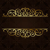 Vector ornate gold border. Stock Photo