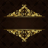 Vector ornate gold border Royalty Free Stock Photos