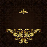 Vector ornate gold border Stock Photo