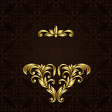 Vector ornate gold border Stock Photography