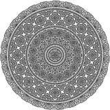 Vector ornate mandala illustration. Plate, pillow, blanket print design. Stock Image