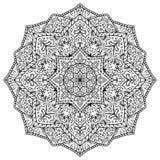 Vector, ornate mandala. royalty free stock photography