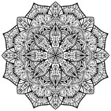 Vector, ornate mandala on a white background. Stock Images