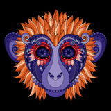 Vector Ornate Monkey Head Stock Images