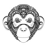 Vector Ornate Monkey Head Stock Photos