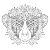 Vector Ornate Monkey Head Stock Photography