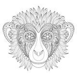 Vector Ornate Monkey Head vector illustration