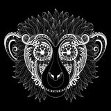 Vector Ornate Monkey Head Stock Photo