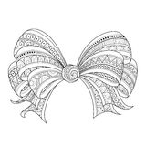 Vector Ornate Monochrome Bow with Pattern Stock Photos
