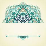 Vector ornate pattern in Victorian style. Stock Photo
