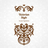 Vector ornate pattern in Victorian style. Royalty Free Stock Photo