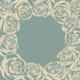 Vector ornate rose background. Easy to edit. Stock Image