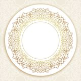 Vector ornate round border in Eastern style. Stock Photo
