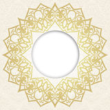 Vector ornate round border in Eastern style. Stock Photos