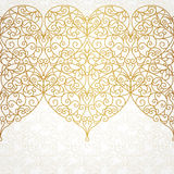Vector ornate seamless border in Eastern style. Royalty Free Stock Images