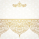 Vector ornate seamless border in Eastern style. Royalty Free Stock Photos