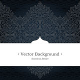 Vector ornate seamless border in Eastern style. Royalty Free Stock Photography